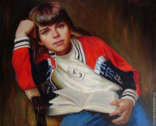 Люди, ручной работы. Ярмарка Мастеров - ручная работа. Купить Портрет Дениски. Handmade. Живопись маслом, портрет с натуры
