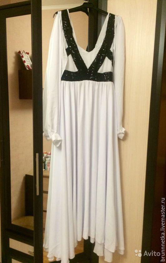 Платья ручной работы. Ярмарка Мастеров - ручная работа. Купить Вечернее платье. Handmade. Белый, вечернее платье, длинное платье