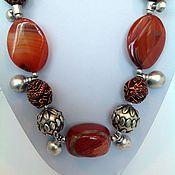 Украшения handmade. Livemaster - original item Necklaces, ethnic beads made from natural materials dragon Dance.. Handmade.