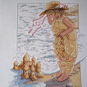 """Картины и панно ручной работы. Ярмарка Мастеров - ручная работа Вышивка крестом """"Замки из песка"""". Handmade."""