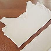 Одежда ручной работы. Ярмарка Мастеров - ручная работа Нижнее платье (топ+юбка) беж. Handmade.