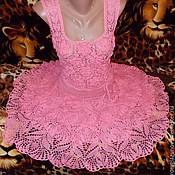 """Одежда ручной работы. Ярмарка Мастеров - ручная работа Платье-сарафан """"Розовый зефир"""". Handmade."""