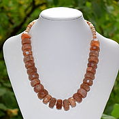 Украшения handmade. Livemaster - original item Rich necklace of Sunstone (oligoclase). Handmade.