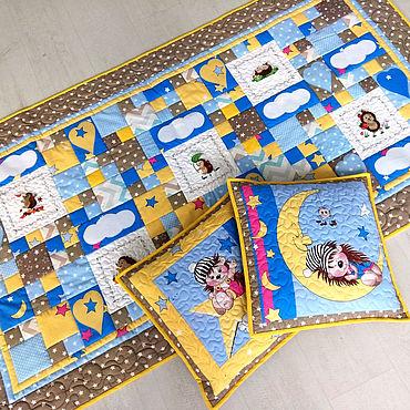 """Текстиль ручной работы. Ярмарка Мастеров - ручная работа Лоскутное одеяло """"Ежики"""" детское. Handmade."""