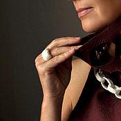 "Украшения handmade. Livemaster - original item Ring ""Marinus"", porcelain, silver. Handmade."