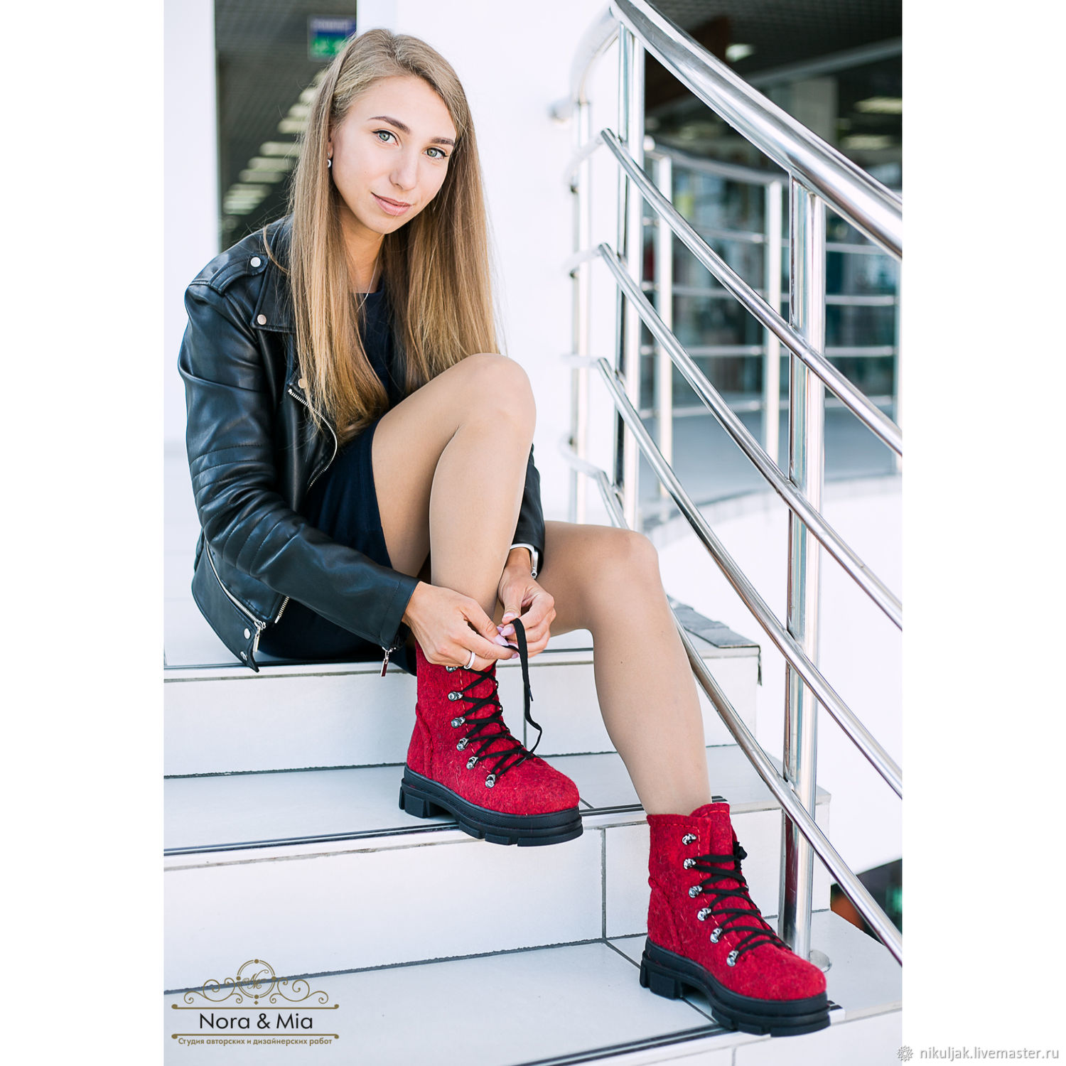 Felted shoes the Color of love!, Boots, Dnepropetrovsk,  Фото №1