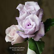 Цветы и флористика ручной работы. Ярмарка Мастеров - ручная работа Розы в лиловых тонах. Handmade.