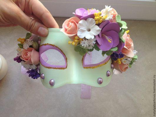 Праздничная атрибутика ручной работы. Ярмарка Мастеров - ручная работа. Купить Маскарадная маска из полимерной глины. Handmade.
