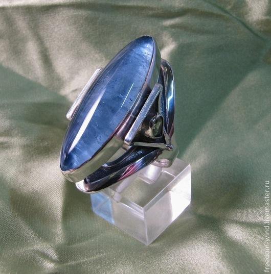 Кольца ручной работы. Ярмарка Мастеров - ручная работа. Купить Морская синева. Handmade. Голубой, кольцо с камнем, серебро