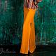"""Юбки ручной работы. Ярмарка Мастеров - ручная работа. Купить Льняная юбка из коллекции """"Аравия"""". Handmade. Оранжевый, лен, бохо"""