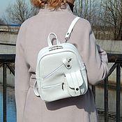 Сумки и аксессуары handmade. Livemaster - original item Backpack womens white leather Nellie Maud SR28-191. Handmade.