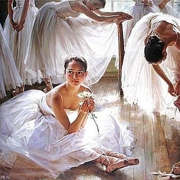 """Картины и панно ручной работы. Ярмарка Мастеров - ручная работа Картина """"Балерины"""". Handmade."""