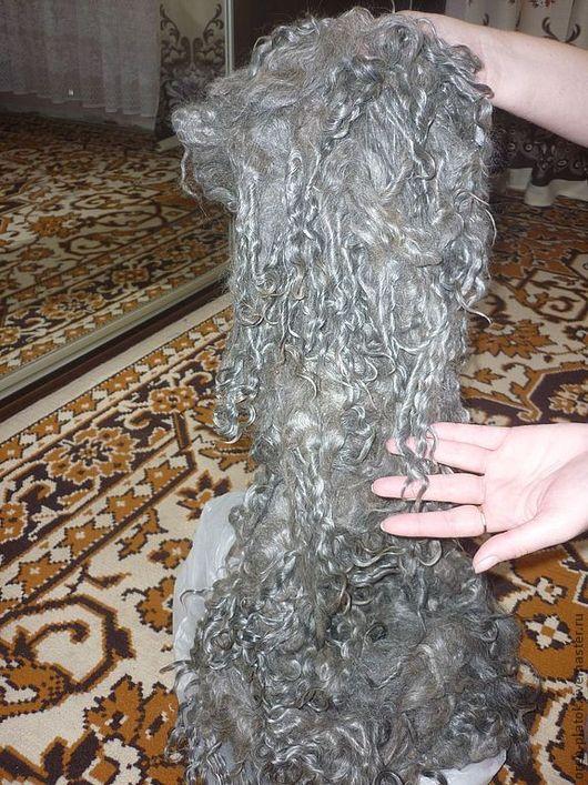 Волокна, пух для прядения ручной работы. Ярмарка Мастеров - ручная работа. Купить 06 Козий  пух серый Оренбургский. Handmade.