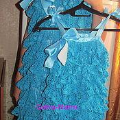 Одежда handmade. Livemaster - original item Dresses-sun dresses with flounced mom and daughter!. Handmade.