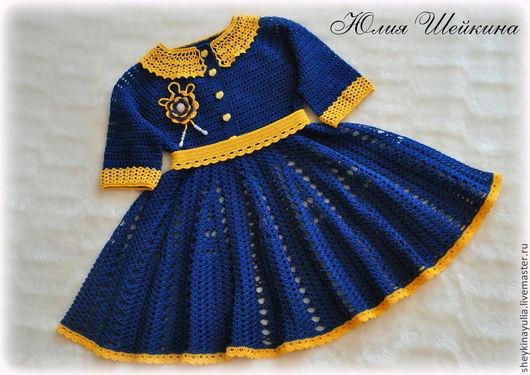 Одежда для девочек, ручной работы. Ярмарка Мастеров - ручная работа. Купить Платье крючком, вязаное платье, платье для девочки. Handmade.