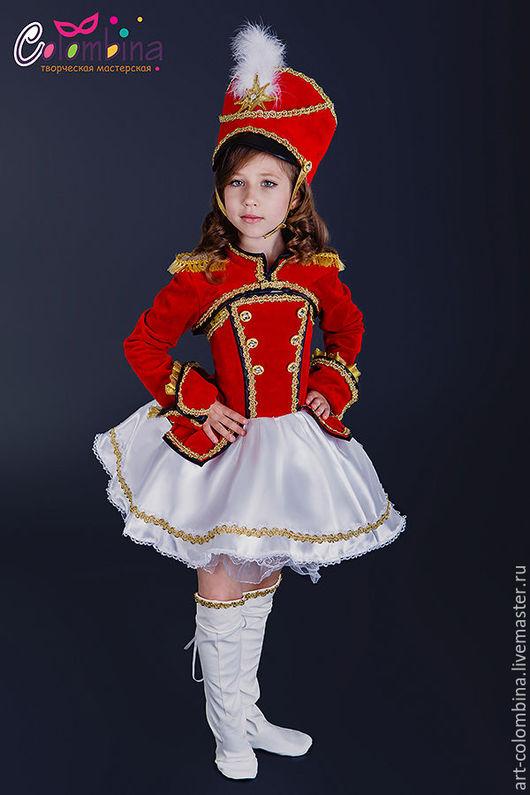 Детские карнавальные костюмы ручной работы. Ярмарка Мастеров - ручная работа. Купить Костюм мажоретки. Handmade. Ярко-красный