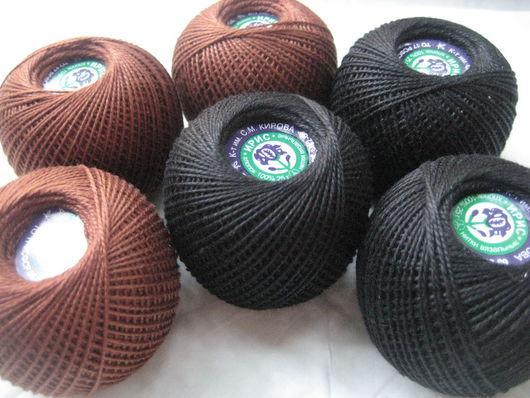 """Вязание ручной работы. Ярмарка Мастеров - ручная работа. Купить Пряжа """"Ирис"""" для вышивания носиков. Handmade. Черный, нитки для вязания"""