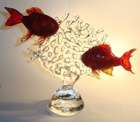 Миниатюра ручной работы. Ярмарка Мастеров - ручная работа. Купить Тропические рыбы. Handmade. Тропические рыбы
