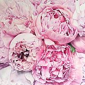 Картины и панно handmade. Livemaster - original item Oil painting Pink happiness 70h80 cm. Handmade.