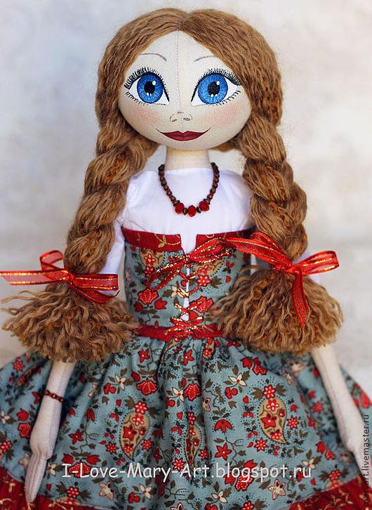 Коллекционные куклы ручной работы. Ярмарка Мастеров - ручная работа. Купить Текстильная кукла Анна. Handmade. Морская волна, интерьер