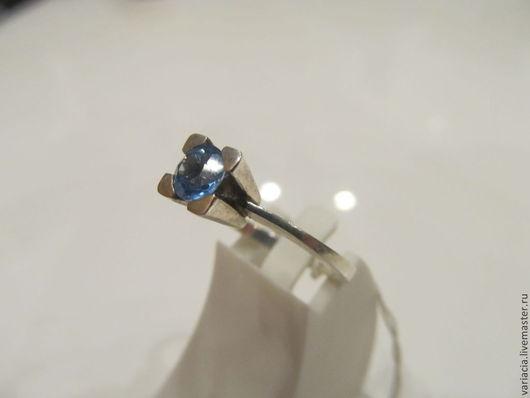 Кольца ручной работы. Ярмарка Мастеров - ручная работа. Купить Кольцо в серебре с голубым топазом, классика. Handmade. Голубой