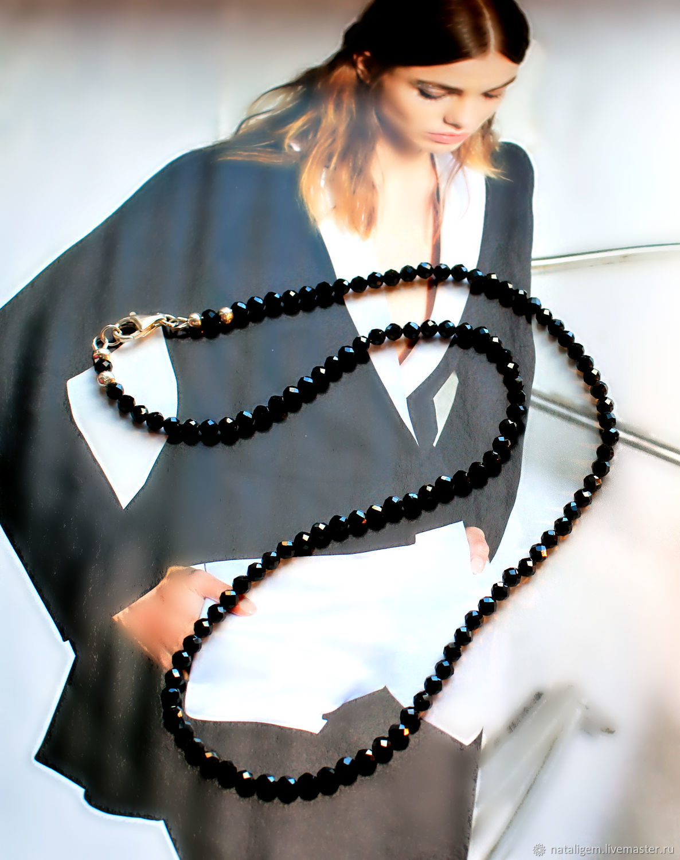 Beads of natural black spinel Elegant lady, Necklace, Tuchkovo,  Фото №1