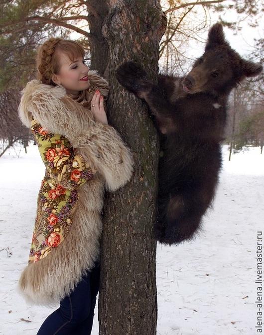 """Верхняя одежда ручной работы. Ярмарка Мастеров - ручная работа. Купить Зимнее пальто """"Машенька и медведи"""".. Handmade. Разноцветный, шерсть"""