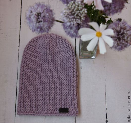 вязаная шапка спицами, вязаная шапка бини, вязаная шапка крупной вязки, молодежная вязаная шапка спицами, вязаная шапка на осень, вязаная шапка объемная, красивая вязаная шапка, шапка ручная вязка