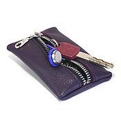 Сумки и аксессуары handmade. Livemaster - original item Purple Oval - key case leather. Handmade.