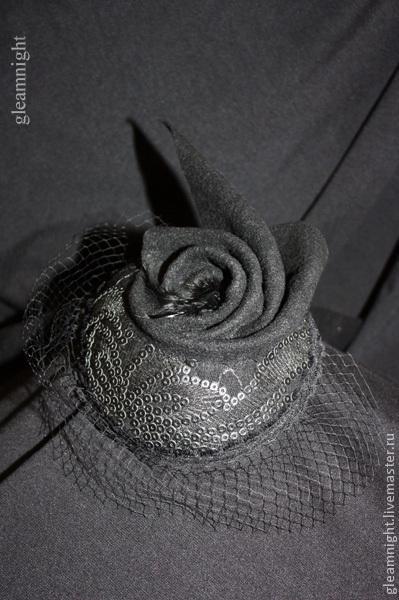 Шляпы ручной работы. Ярмарка Мастеров - ручная работа. Купить Вечерняя шляпка Эксклюзив. Handmade. Черный, маленькая шляпка, вуаль