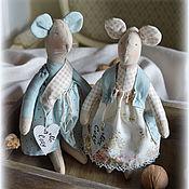 """Мягкие игрушки ручной работы. Ярмарка Мастеров - ручная работа Пара мышек """"Mr. & Mrs. Cozy"""". Handmade."""