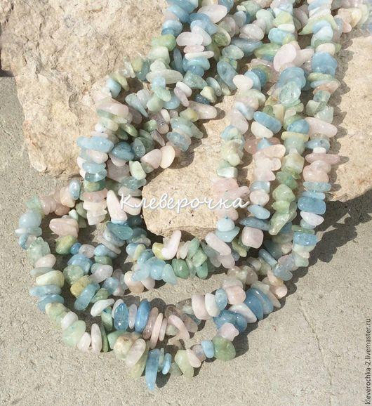 Для украшений ручной работы. Ярмарка Мастеров - ручная работа. Купить .Берилл крошка 10 см бусины камни для украшений. Handmade.