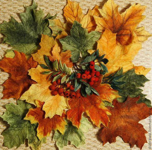 """Картины цветов ручной работы. Ярмарка Мастеров - ручная работа. Купить Картина из шерсти """"Осенние листья"""". Handmade. Осенние листья"""