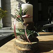 Подарки к праздникам handmade. Livemaster - original item Candle holder in eco style. Handmade.
