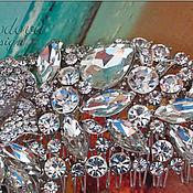 """Украшения ручной работы. Ярмарка Мастеров - ручная работа Свадебное украшение для волос """"Роза"""" гребень. Handmade."""