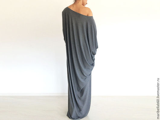 Платья ручной работы. Ярмарка Мастеров - ручная работа. Купить SOFIA Длинное платье в пол асимметричное макси. Handmade. Серый
