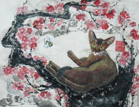 """Животные ручной работы. Ярмарка Мастеров - ручная работа. Купить """"Золотая кошка"""" курс """"Кошка"""" стиль гунби. Handmade."""