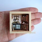 """Сувениры и подарки ручной работы. Ярмарка Мастеров - ручная работа Румбокс """"Кухня"""" 1:48. Handmade."""