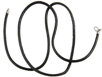 Для украшений ручной работы. Ярмарка Мастеров - ручная работа. Купить кожаный шнур с серебряным замком 45 см. Handmade.