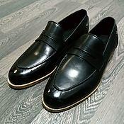 Обувь ручной работы handmade. Livemaster - original item Loafers made of genuine leather, 100% handmade, custom made!. Handmade.