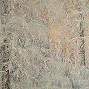 Картины и панно ручной работы. Ярмарка Мастеров - ручная работа Зимнее утро. Handmade.