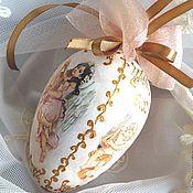"""Подарки к праздникам ручной работы. Ярмарка Мастеров - ручная работа Пасхальное яйцо  """"Музыка Ангелов"""" , интерьерная подвеска, декупаж. Handmade."""