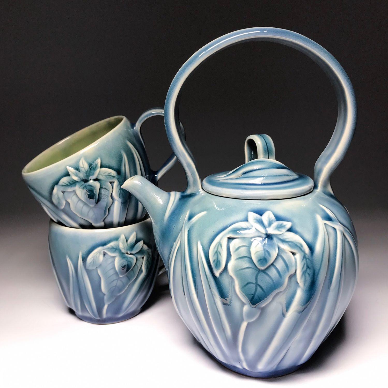 Чайный набор «Ирисы» голубой, Чайники, Санкт-Петербург,  Фото №1