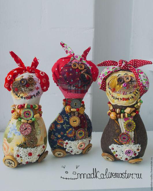 Коллекционные куклы ручной работы. Ярмарка Мастеров - ручная работа. Купить Кулёмы Батьковны Матрёшкины текстильная кукла. Handmade. Комбинированный