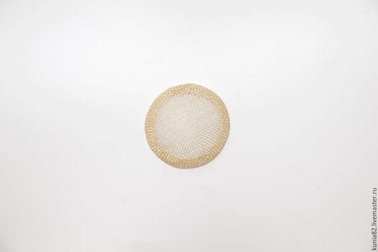 Основа для шляпки, вуалетки, синамей, диаметр 7 см. Цвет: АЙВОРИ, полуфабрикат для изготовления шляп и головных уборов. Анна Андриенко. Ярмарка Мастеров.