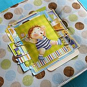 Канцелярские товары handmade. Livemaster - original item Children`s album with soft cover. Handmade.