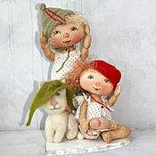 Куклы и игрушки ручной работы. Ярмарка Мастеров - ручная работа Мы собрались гулять.... Handmade.