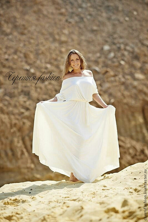 """Платья ручной работы. Ярмарка Мастеров - ручная работа. Купить Платье """"Маруся"""". Handmade. Белый, модное платье, платье в пол"""