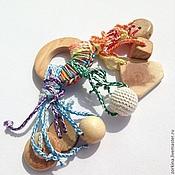 Куклы и игрушки ручной работы. Ярмарка Мастеров - ручная работа Игрушка для малыша погремушка-погрызушка. Handmade.