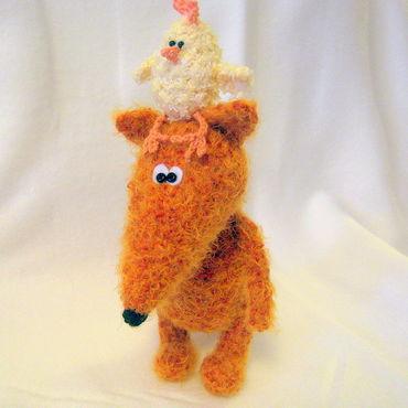 """Куклы и игрушки ручной работы. Ярмарка Мастеров - ручная работа """"Несёт меня лиса за ... светлые леса..."""". Handmade."""